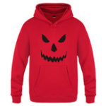 Original Men's Halloween Design Hooded Rib Cuff Casual Sweatshirt