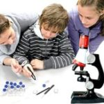 Original Microscope 100X 400X 1200X Zoom Biological Scientific Instruments Educational Kids ScienceToy