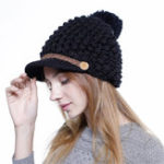 Original Women Winter Vintage Earmuffs Knit Beanie Caps