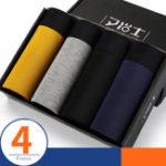 Original 4 Pieces Mens Modal Mid Rise Breathable U Convex Underwear