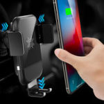 Original ROCK Gravity Auto Lock 10W 7.5W 5W Qi Wireless Fast Charger Car Holder For iPhone XS XR 8 S9 Note 9
