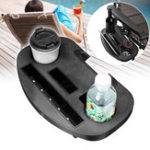Original Portable Folding Beach Chair Drink Cup Holder Snacks Water Bottle Detachable Shelf Tray