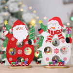 Original 24*17CM Christmas Santa Claus Snowman Holiday Desktop Wooden Craft Decorations