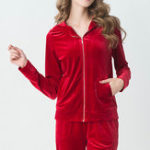 Original Long Sleeves With Hat Homewear Soft Sleepwear Sets