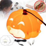 Original Halloween Pumpkin Flea Trap Lamp Mosquito Dispeller US Two Plug Flea Killer LED Outdoor Home Night Lantern
