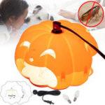 Original Halloween Pumpkin Flea Trap Lamp Mosquito Dispeller US Two Plug Flea Killer LED Outdoor Home Night Lantern