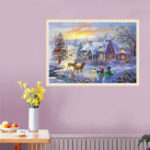 Original 5D Diamond Painting Christmas Deer Embroidery Home Full Drill Cross Stitch Kits