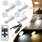 Original 4pcs 12V LED Recessed Down Cabinet Light RV Ceiling Roof Camper Trailer Boat Lamp