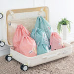 Original Waterproofing Cartoon Animals Printed Storage Bags Baby Clothing Kids Toys Organizer Drawstring Cosmetic Candy Pouch Bags