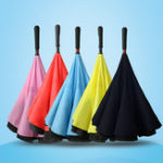 Original Reverse Umbrella Creative Straight Handle Double-layer Standing Car Umbrella  Men and Women Umbrella