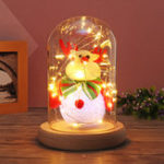 Original Newest Eternal Lovely Deer Christmas Tree Glass Dome Bell Jar with Fairy LED Light Christmas Decor