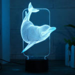 Original 3D Illusion Night Light Colorful LED Desk Lamp Bedroom Home Room Decor Gift