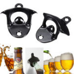 Original Stainless Steel Beer Bottle Opener Wall Mount Kitchen Bar Wine Glass Cap Open Tool
