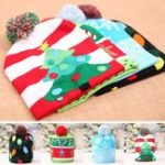 Original Christmas LED Light Winter Warm Beanie Cap Santa Claus Snowflake Knitted Hat