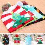 Original Christmas LED Light Winter Warm Beanie Cap Santa Claus Snowflake Knitted Hat