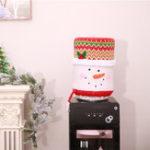 Original Christmas Water Dispenser Bucket Cover Barrel Dust Santa Claus Skin Home Decorations