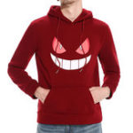 Original Men's Casual Halloween Pumpkin Smile Pattern Sweatshirt