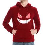 Original Men's Casual Halloween Pumpkin Smile Pattern Sweatshirt