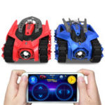 Original 2PCS Galaxy Zega LEO GONDAR Rc Car Battle Tank App Control Game Compatible W/ IOS Android