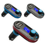Original BT66 Bluetooth Car Kit MP3 Player FM Transmitter LCD Dual USB Charger + Remote
