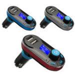 Original BT66 Bluetooth Car Kit MP3 Player FM Transmitter LCD Dual USB Charger + Remote