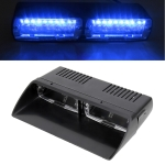 DC 12V 4.2W 16LEDs Crystal Lamp Beads Car Windshield Warning Lamp 18 Flash Patterns(Adjustable) (Blue Light)