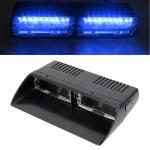 DC 12V 4.2W 16LEDs Crystal Lamp Beads Car Windshield Warning Lamp 18 Flash Patterns(Adjustable) (Blue Light)