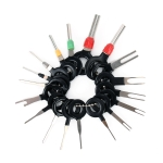 18 PCS Auto Car Plug Circuit Board Wire Harness Terminal Extraction Pick Connector Crimp Pin Back Needle Remove Tool