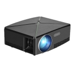 AUN C80 2200 Lumens 1280 x 720P LED Portable HD Theater Projector (Black)