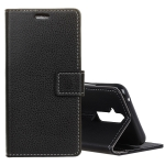 Litchi Texture Horizontal Flip Leather Case for Huawei Mate 20 Lite, with Holder & Card Slots & Wallet (Black)