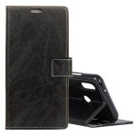 Retro Crazy Horse Texture Horizontal Flip Leather Case for Huawei Y9 (2019),  with Card Slots & Holder & Photo Frame (Black)