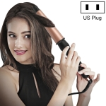 1-1.5 inch Conical Ceramic Hair Curler with Heat-resistant Gloves , US Plug (Rose Gold)