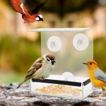 Creative Transparent Plexiglass Square Box Bird Feeder