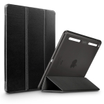 ESR Yippee Color Plus Seires Soft Edge Three-folding Magnetic Leather Case for iPad Air 2, with Sleep / Wake-up Function(Black)