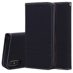 Fashion Magnet Horizontal Flip Leather Case for iPhone XS Max, with Holder & Card Slots & Wallet (Black)