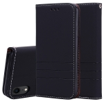 Fashion Magnet Horizontal Flip Leather Case for iPhone XR, with Holder & Card Slots & Wallet (Black)