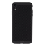 MOFI Honeycomb Texture Breathable PC Shockproof Protective Case for iPhone XR (Black)