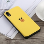 Big Face Sari Duck Pattern Slide Bumper Double Layer Shockproof TPU + PC Case for iPhone XR