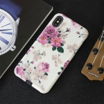 Rose Pattern Shockproof TPU Protective Case for iPhone XR