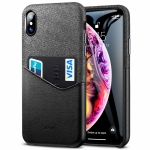 ESR Metro Series Soft Fabric + PU Leather Case for iPhone XS / X , with Card Slot(Black)