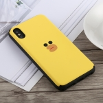 Big Face Sari Duck Pattern Slide Bumper Double Layer Shockproof TPU + PC Case for iPhone X / XS