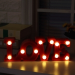 Creative LOVE Shape Warm White LED Decoration Light