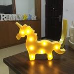 Creative Unicorn Shape Warm White LED Decoration Light