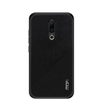 MOFI Shockproof TPU + PC + Cloth Pasted Case for Meizu 16 Plus (Black)
