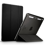 ESR Yippee Color Plus Seires Soft Edge Three-folding Magnetic Leather Case for iPad Pro 9.7 (2016), with Sleep / Wake-up Function(Black)