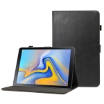 ENKAY Crazy Horse Texture Horizontal Flip Leather Case for Galaxy Tab A 10.5 T590 / T595, with Card Slots & Holder & Sleep / Wake-up Function(Black)