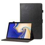 ENKAY Crazy Horse Texture Horizontal Flip Leather Case for Galaxy Tab S4 10.5 T830 / T835, with Card Slots & Holder & Sleep / Wake-up Function (Black)