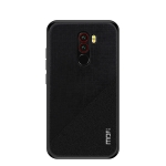 MOFI Shockproof TPU + PC + Cloth Pasted Case for Xiaomi Pocophone F1 (Black)