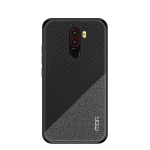 MOFI Honors Series Full Coverage TPU + PC + Cloth Pasted Case for Xiaomi Pocophone F1(Black)
