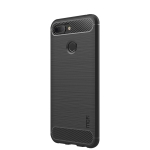 MOFI Brushed Texture Carbon Fiber Soft TPU Case for Xiaomi Mi 8 Lite (Black)